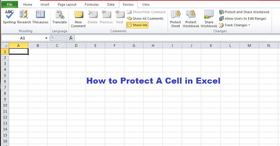 how to protect a cell in excel
